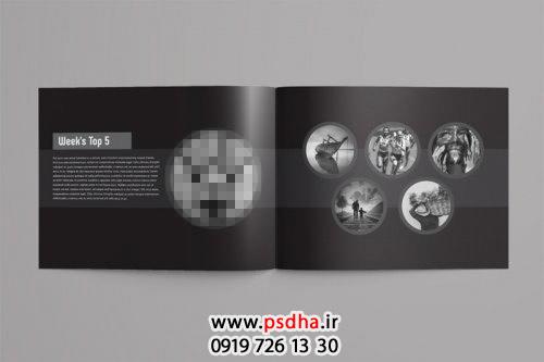 دانلود فتو آلبوم برای طراحی عکس مجله ای