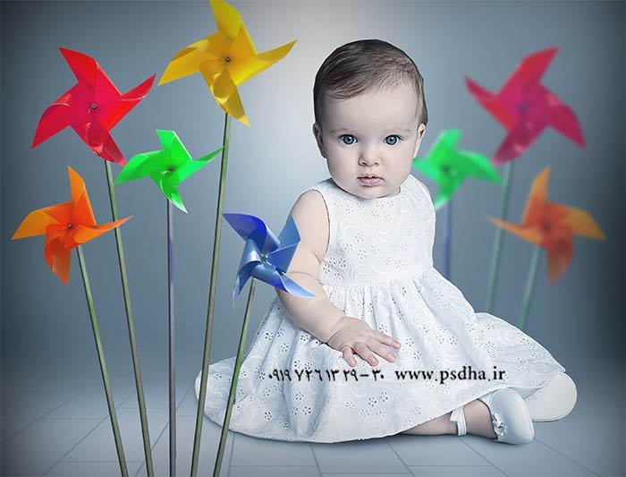 دانلود بک گراند لایه باز کودک