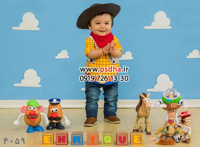 بک دراپ عکس نوزاد با دکور های متنوع