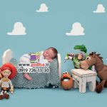 بک دراپ عکس نوزاد با دکور های متنوع کد 4059