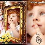 فون کودک با قاب طلائی