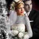 فون آتلیه عروس با بک گراند سیاه