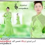 فون عروس کره ای با بک گراند سبز
