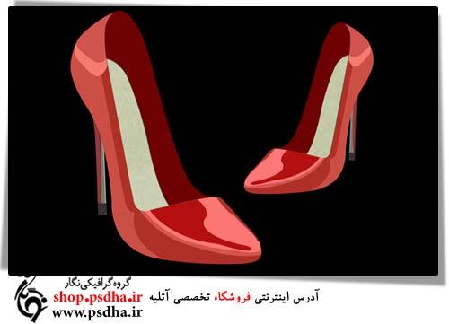 طرح لایه باز کفش زنانه