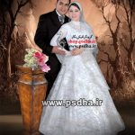 دانلود رایگان بک گراند لایه باز عکس عروس و داماد