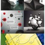 دانلود وکتور سه بعدی از پس زمینه های مختلف