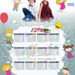 دانلود تقویم شمسی ۱۳۹۶ کودک بصورت psd و با جزئیات کامل