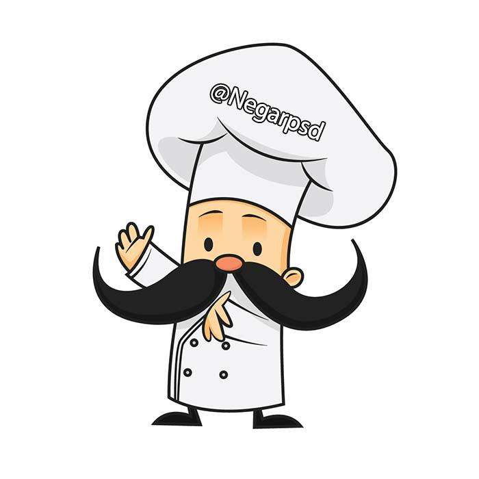 دانلود وکتور آشپز باشی برای طراحی منو