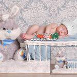 بک گراند های عکس مخصوص آتلیه نوزاد و کودک