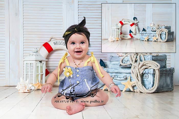 بک گراند عکس نوزاد و دکورهای آتلیه ای