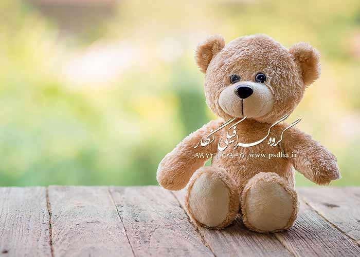 بک گراند با کیفیت عالی با خرس های عروسکی
