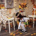 پس زمینه آتلیه پاییز و هالوین برای طراحی عکس های آتلیه ای