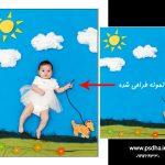 دانلود بک گراند پارچه ای دکور نوزاد برای طراحی عکس کودک و نوزاد