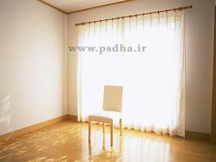 پس زمینه صندلی و پنجره