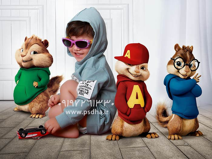 دانلود بک گراند کودک سنجاب های آلوین