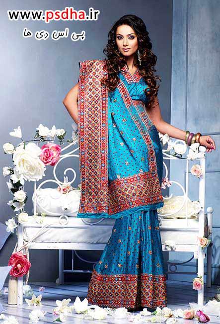 دانلود فون مونتاژ عکس لباس هندی طراحی