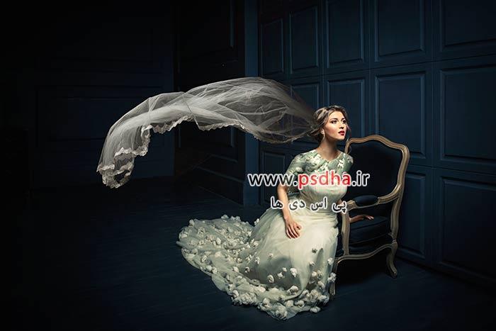 دانلود دنباله تور عروس برای طراحی عکس