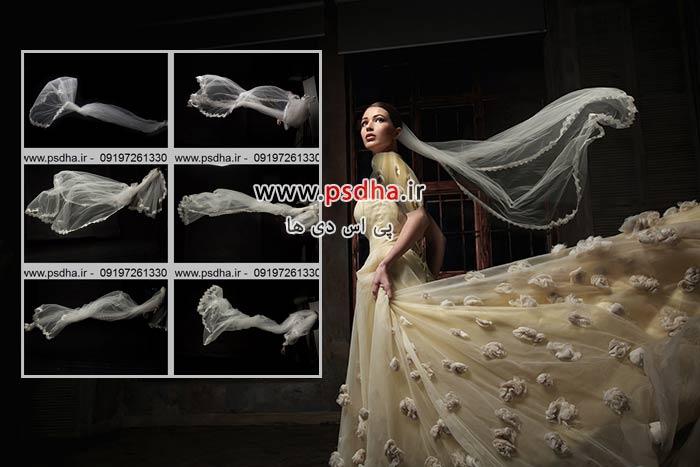 دنباله تور عروس برای طراحی عکس