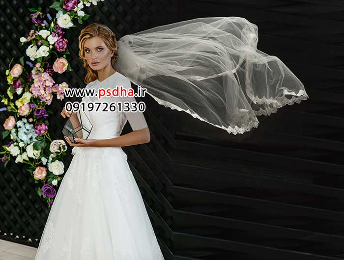 دنباله تور عروس برای طراحی عکس عروس کد3737