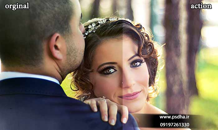 اکشن برای ویرایش عکس عروس و داماد