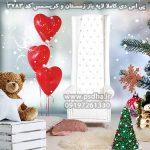 بک گراند لایه باز کریسمس و زمستان با دکور کودکانه کد3783