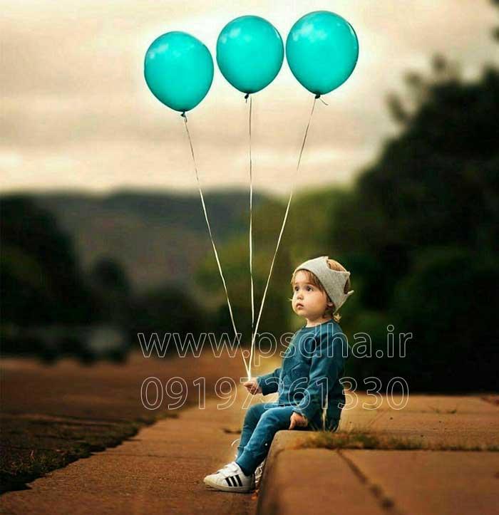 عکس با کیفیت بادکنک برای طراحی عکس کودک