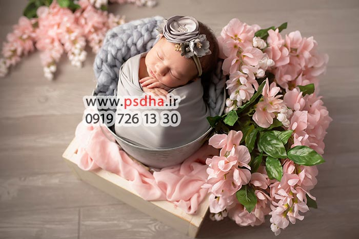 دانلود بک دراپ نوزاد برای عکاسی آتلیه
