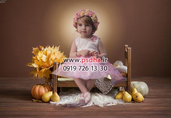 خرید بک گراند کودک پاییز و هالوین