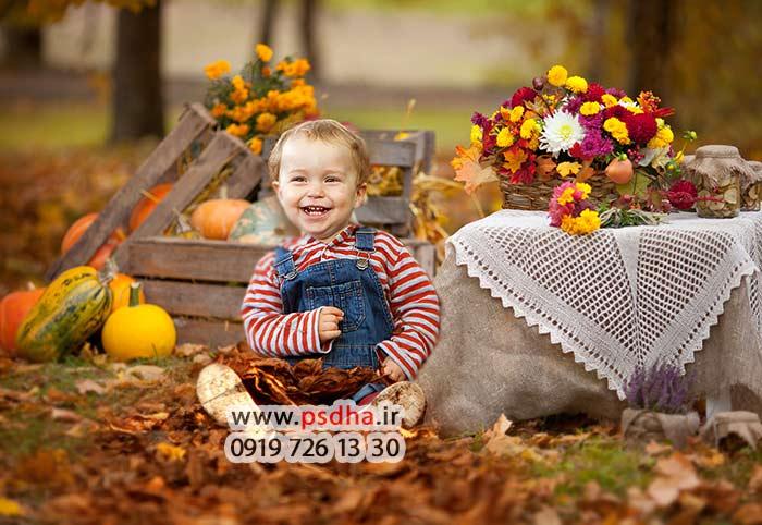 خرید بک گراند کودکانه پاییز و هالوین