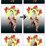 دانلود لباس سنتی دخترانه لایه باز کد 3937