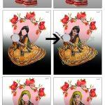لباس سنتی دخترانه پی اس دی برای طراحی کد 3938