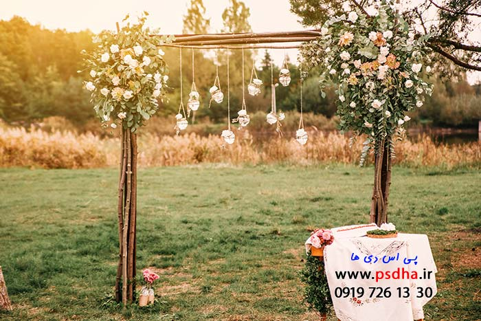 دانلود بک گراند عمارت و باغ عروس
