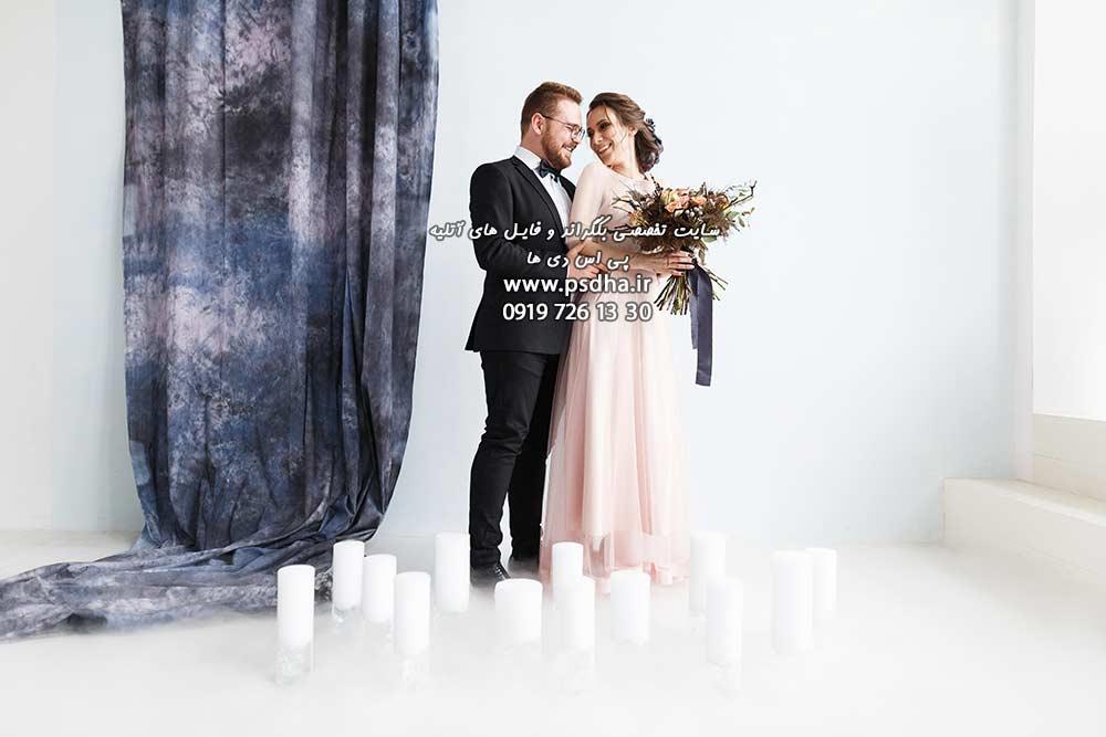 دانلود بک گراند عمارت عروس با دکور پرده
