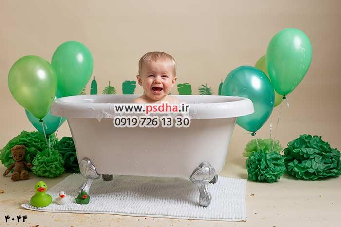 دانلود بکگراند وان حمام کودک