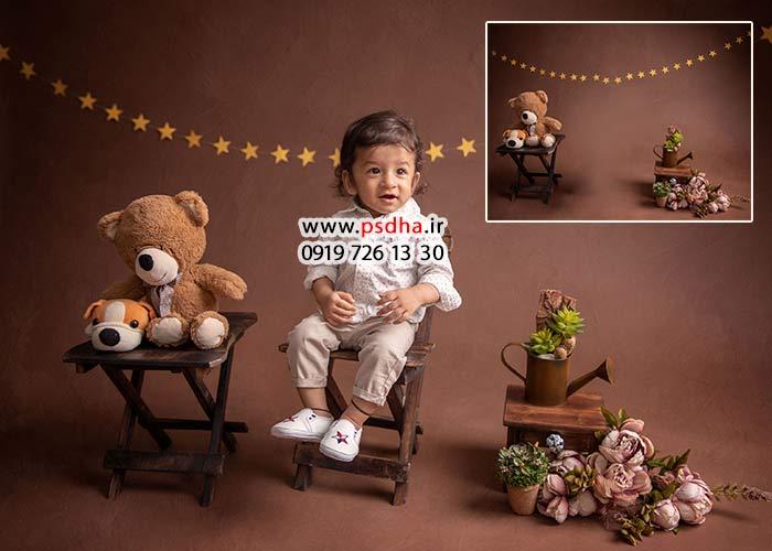 دانلود بکدراپ آتلیه برای عکس کودک