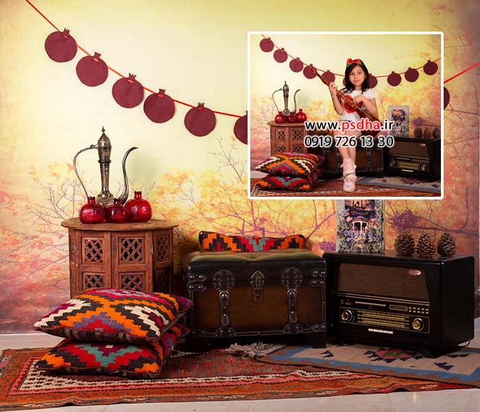 دانلود بک گراند سنتی یلدا برای طراحی عکس آتلیه