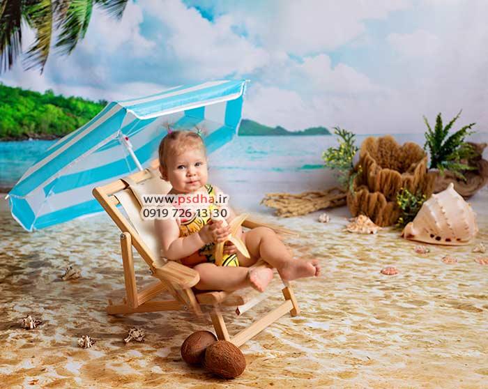 فایل طراحی عکس کودک در فتوشاپ