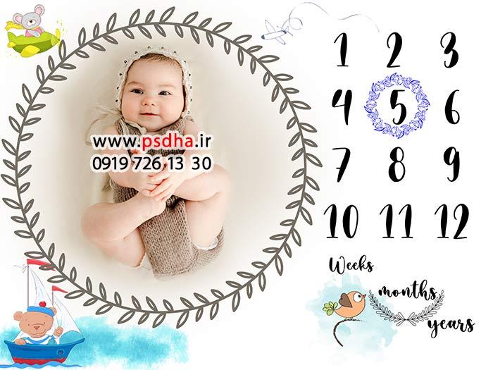 بک گراند ماهگرد کودک و نوزاد