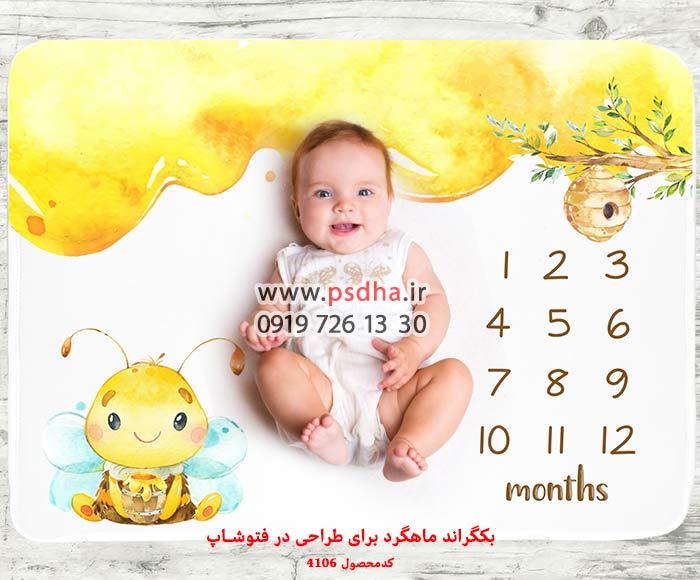 بک گراند ماهگرد نوزاد و کودک