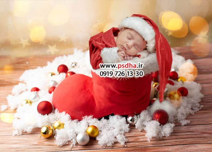 بک گراند کریسمس برای نوزاد